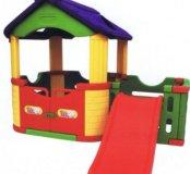 Новый детский игровой домик с горкой JM-802C