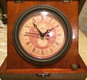 Часы шкатулка натуральное дерево
