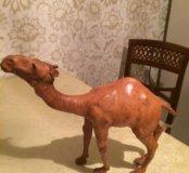 Фигурка верблюда натуральная кожа
