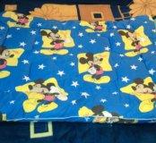 Теплое одеяло, стеганое детское 110/140
