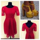 Платье нарядное вечернее, красное, НОВОЕ