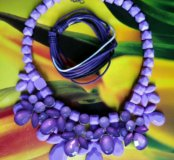 Колье фиолетовое