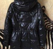 Пальто на шелторе с мехом песца+ подарок