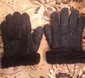 Натуральные теплые мужские перчатки