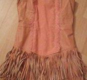 Платье 42-44 кожа натуральная