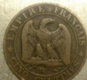 5 франков старой Франции 1854 года