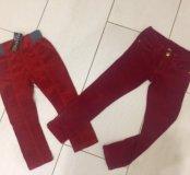 Вельветовые брюки на 100 и 110