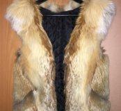 Продаю меховой жилет из лисы