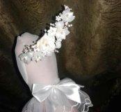 Свадебная диадема и перчатки.