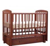 Детская кроватка от 0-3 лет б/у  с матрасом
