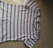 Полосатая футболочка короткая