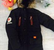 Стильная курточка на мальчика на рост 130-140 см