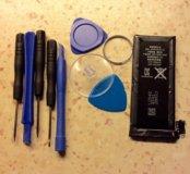 Аккумулятор на iPhone 4s и набор спец.отверток