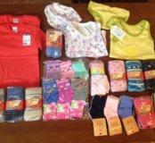 Носки, колготки, футболки, трусики, тапочки