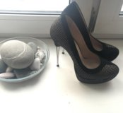 Туфли из натуральной замши на каблуке  НОВЫЕ