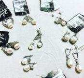 Серебро 925 проба жемчуг