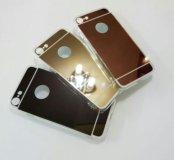 "чехлы ""зеркальные"" на iPhone 5/5s, 6/6s, 7"