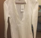 Белая рубашка-туника Mexx