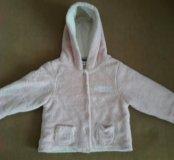 Теплая мягкая детская кофта-куртка Reebok. 6-18 ме