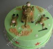 Фигурки из мастики и торты на 23 февраля, военным