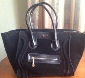 Стлильная сумка Celine замша