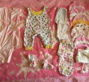 Одежда на малышку от 0-3