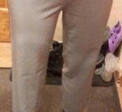 Светло серые брюки женские