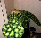 Крокодил большой, аллигатор мягкий 2м.15см.