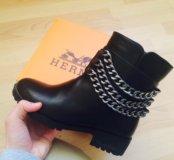 Новые ботинки  Гермес . Эко кожа