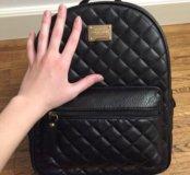 Женский кожаный рюкзак и клатч в подарок
