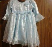 Платье для девочки . 5-6 лет .