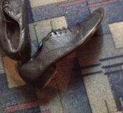 Танцевальные туфли кожаные б/у