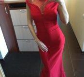Красное вечернее платье со Сваровски Swarovski