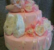 Тортики из памперсов, полотенец, киндеров