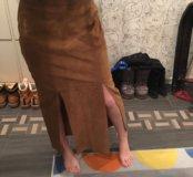 Юбка кожаная Casual Италия 44 размер