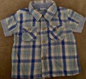 Рубашка для мальчика 3-6 месяцев.