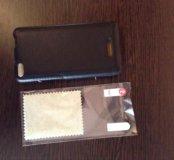 Xiaomi mi4 c кожаный чехол