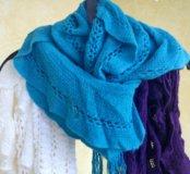 Шарф женский бирюзовый /фиолетовый
