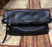Новая черная кожаная жен сумка Calipso