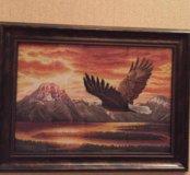 """Картина вышивка крестом """"Безмолвный полет"""""""