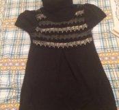 Вязаное платье, повседневное