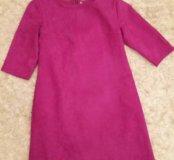 Замшевое платье новое