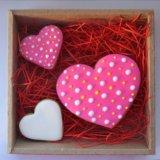 Имбирное печенье 14 февраля валентинки