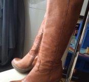 Женские кожаные сапоги размер 38