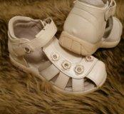 Новые сандали. Туфли. Детская обувь. Кожа.Солнышко