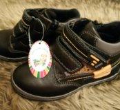 Ботинки демисезоние. Сапожки кожа. Детская обувь