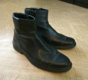 Мужские полуботинки, обувь, ботинки, кожа, весна