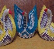 Лебедь, модульное оригами