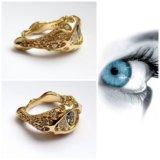 Кольцо золотое с александритом и бриллиантами