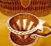 Чашка-конфетница плетёная